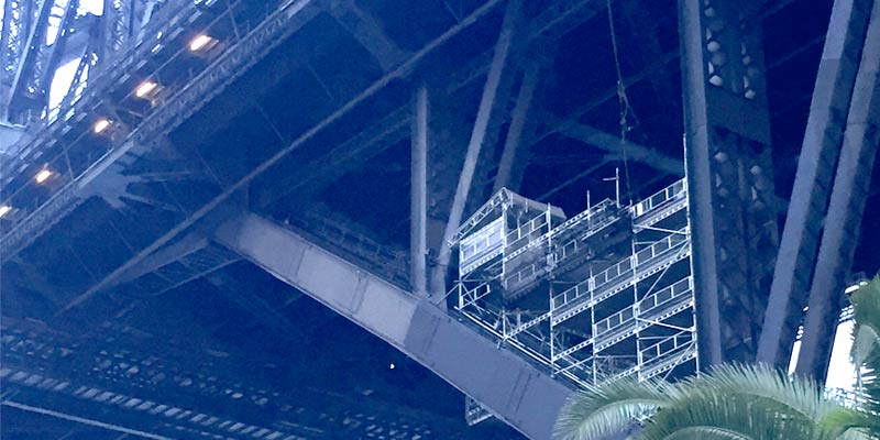 Sydney Harbour Bridge maintenance North Pylon - Stronghold Hire