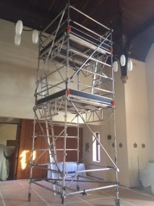 Aluminium Mobile Tower Scaffolding - Sancta Sofia College