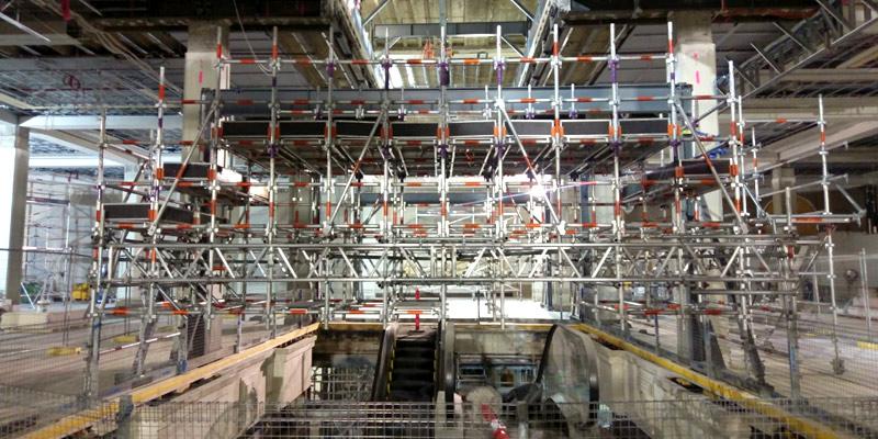 1. CBD Escalator Install - Stronghold Scaffolding - Sydney