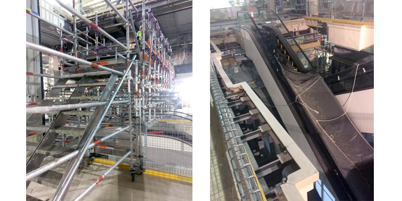 2. CBD Escalator Install - Stronghold Scaffolding - Sydney