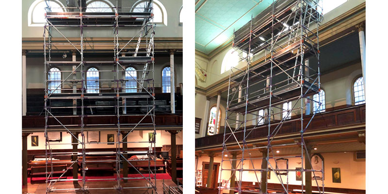 Aluminium Kwik Stage Project - Uniting Church, Pitt Street, CBD