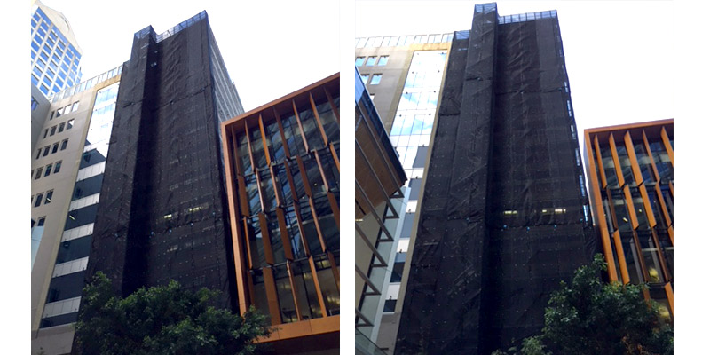 Commercial Scaffolding Super Cuplock Project - Castlereagh Street - Stronghold Sydney