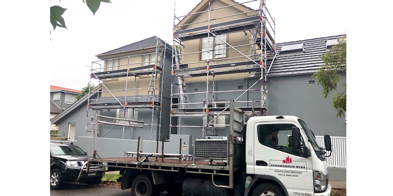 Aluminium scaffold Residential Project in Clovelly - Stronghold Scaffolding Sydney