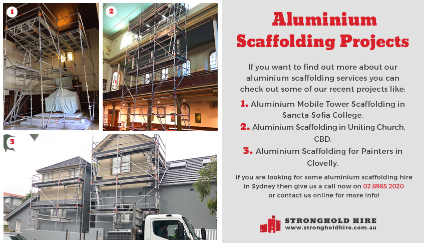 Aluminium Scaffolding Projects Sydney - Stronghold Hire