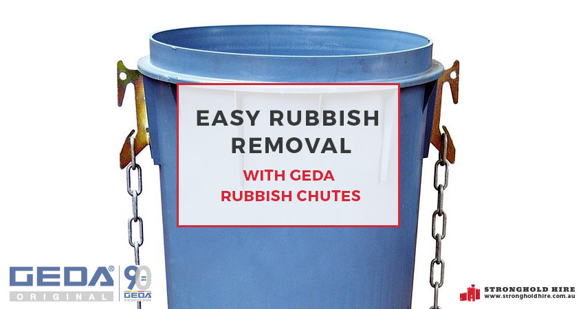 Easy Rubbish Removal With Geda Rubbish Chutes Stronghold
