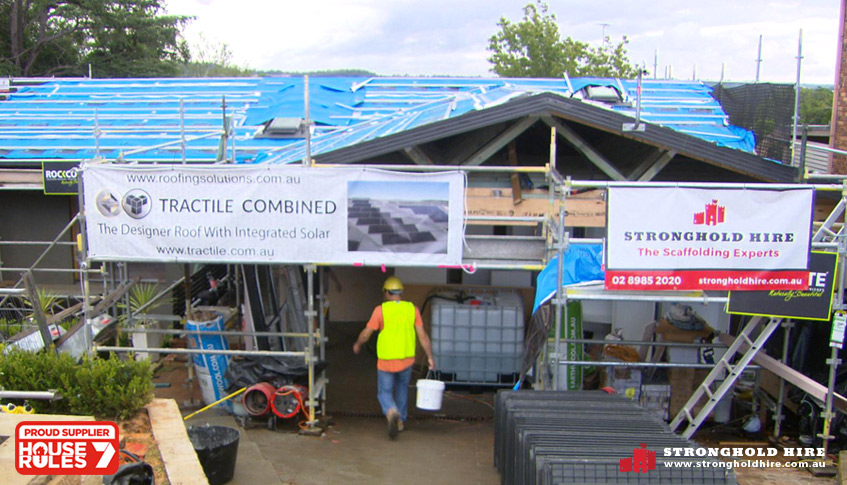 Scaffolding Supplier for The Give Back House - House Rules Australia - Stronghold Hire Sydney