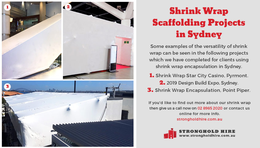 Shrink Wrap Scaffolding Hire Projects in Sydney - Stronghold Hire