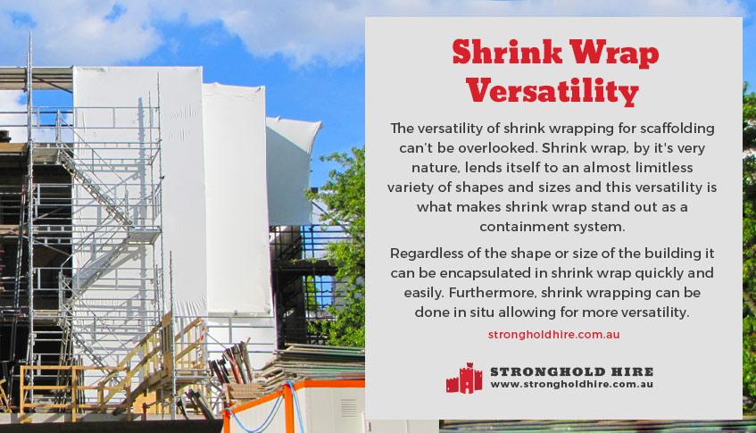 Shrink Wrap Versatility -Stronghold Hire Sydney