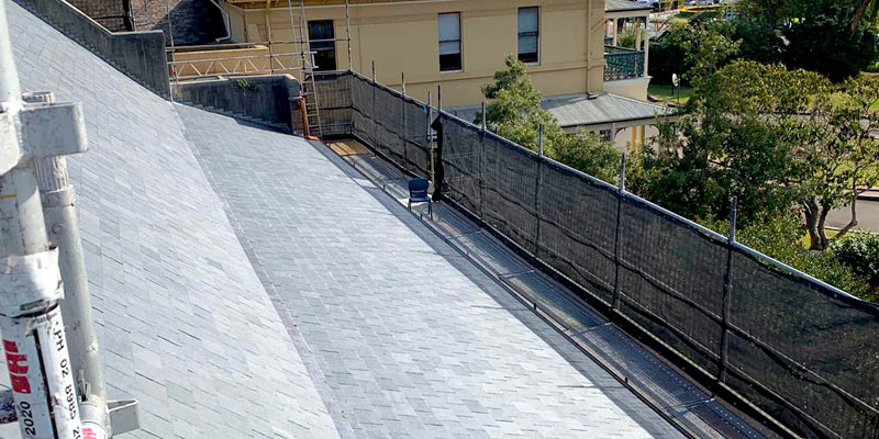 Roof and Gutter Scaffold - Domremy college, Five Dock - Sydney