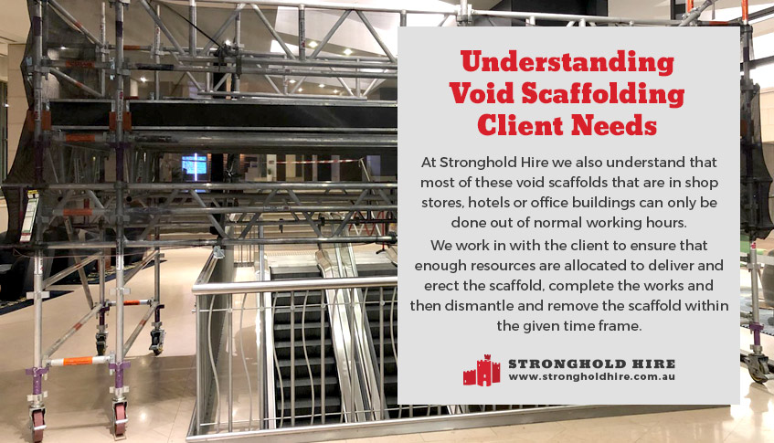 Void Scaffolds Client Needs - Stronghold Scaffolding Hire