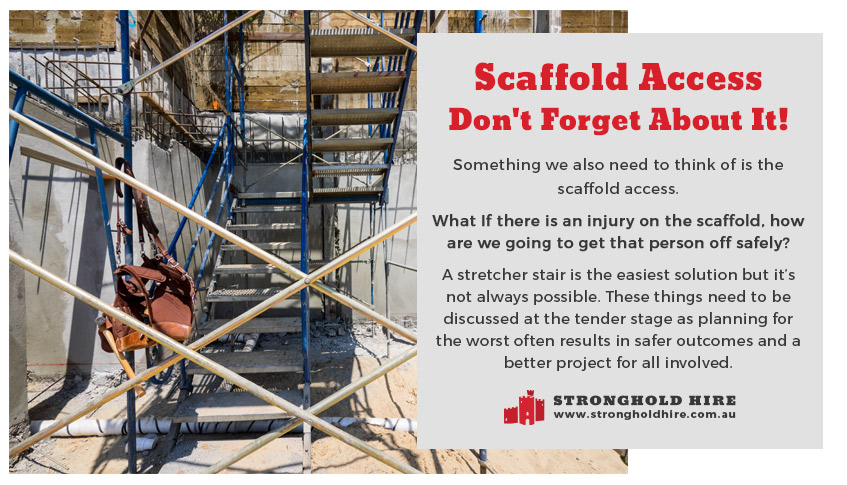 Scaffold Access - Stretcher Stair Scaffolding - Stronghold Hire - Sydney
