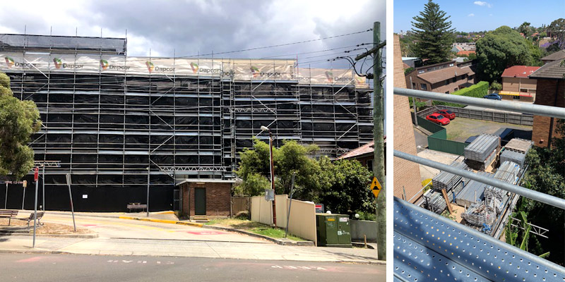 Commercial Scaffolding Sydney – New Canterbury Road, Dulwich Hill - Stronghold Hire
