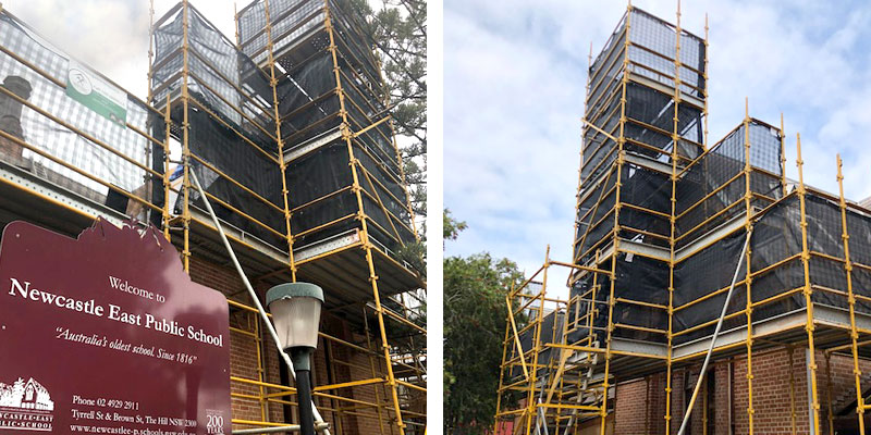 Newcastle East Public School - Scaffolding Stronghold Hire - Sydney