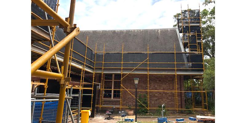Scaffolding Stronghold Hire - Newcastle East Public School Project - Sydney