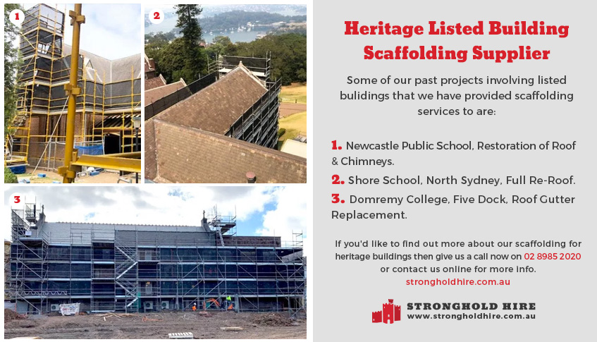 Heritage Listed Building Scaffolding Supplier - Sample Projects Sydney