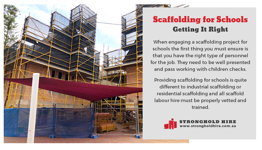 Scaffolding for Schools Sydney - Stronghold Hire