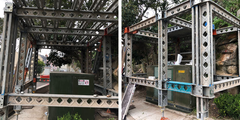 Scaffolding Hire Stronghold - Protection System for Electrical Box - Sydney