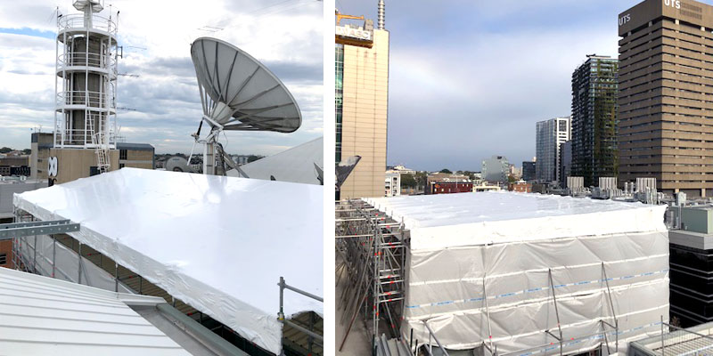Hire Scaffolding Sydney - ABC Studios Ultimo Shrink Wrap