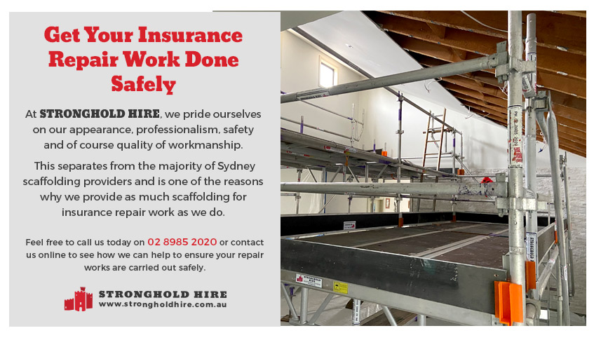 Hire Scaffolding Insurance Repair Work Sydney - Stronghold