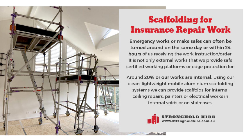 Scaffolding Internal Work - Insurance Repair Work - Stronghold Hire Sydney