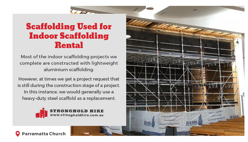 Scaffolding Used for Rental Scaffolding Indoor - Stronghold Hire Sydney