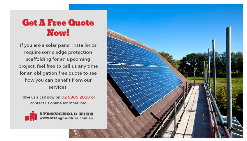 Quote Scaffolding Solar Panel Sydney - Stronghold Hire