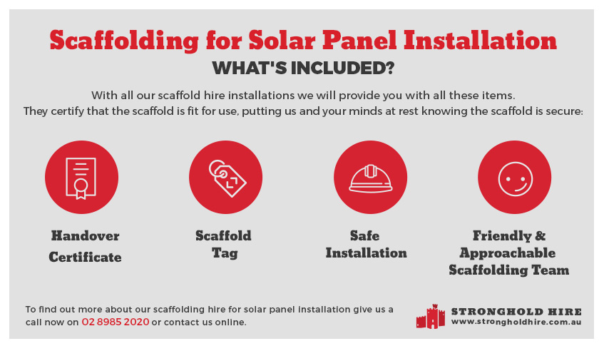 Scaffolding for Solar Panel Installations - What's Included - Stronghold Hire Sydney
