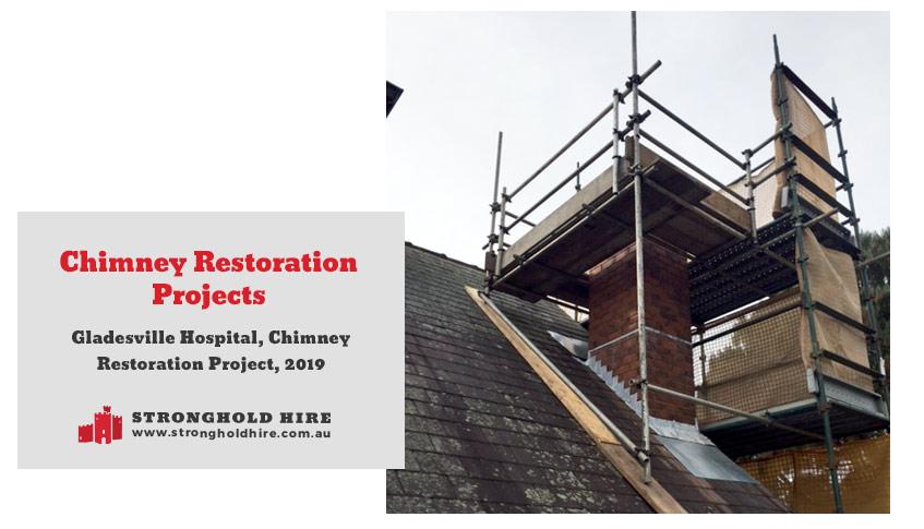 Scaffolding Chimney Restoration Projects Sydney - Stronghold Hire