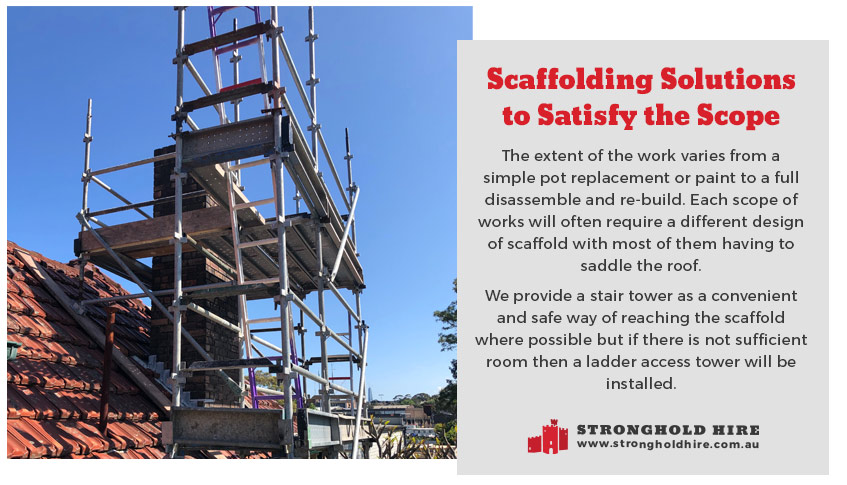 Scaffolding Solutions - Chimney Repair - Stronghold Hire Sydney
