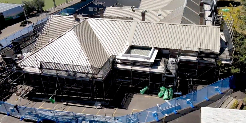 Scaffolding Hire School Re-roofing Sydney - Manly West Public School - Stronghold Hire
