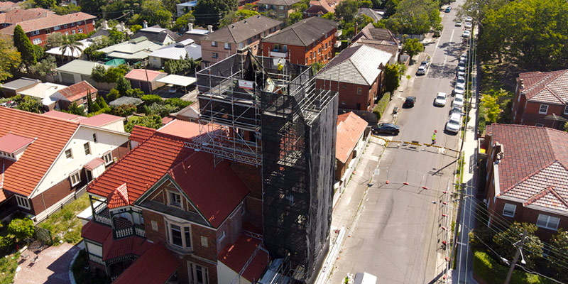 Ashfield Bell Tower - Hire Scaffolding Sydney - Stronghold