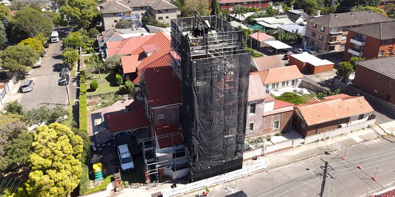 Ashfield Bell Tower Scaffolding Hire Sydney