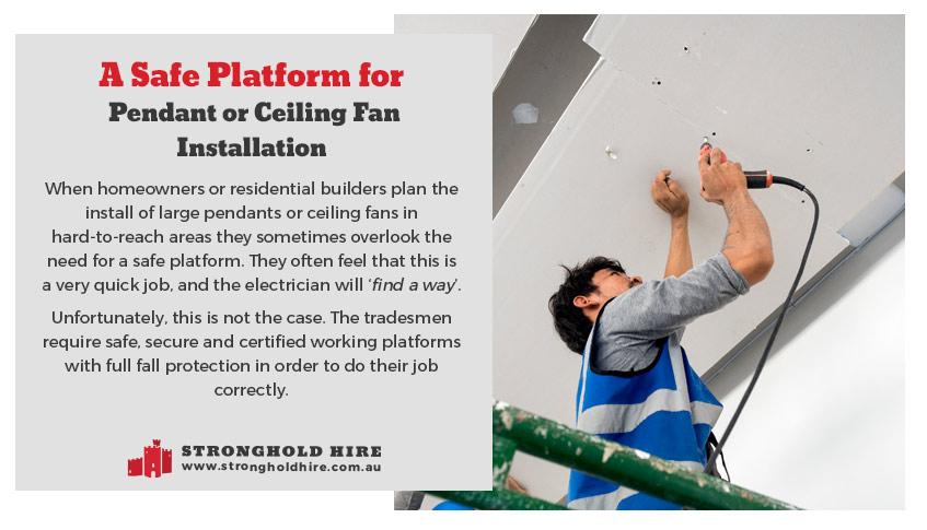 Safe Work Platform for Pendant, Spotlights Installation - Scaffolding Hire Sydney