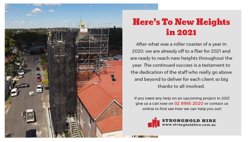 Scaffolding Hire Sydney - New Project 2021 - Stronghold