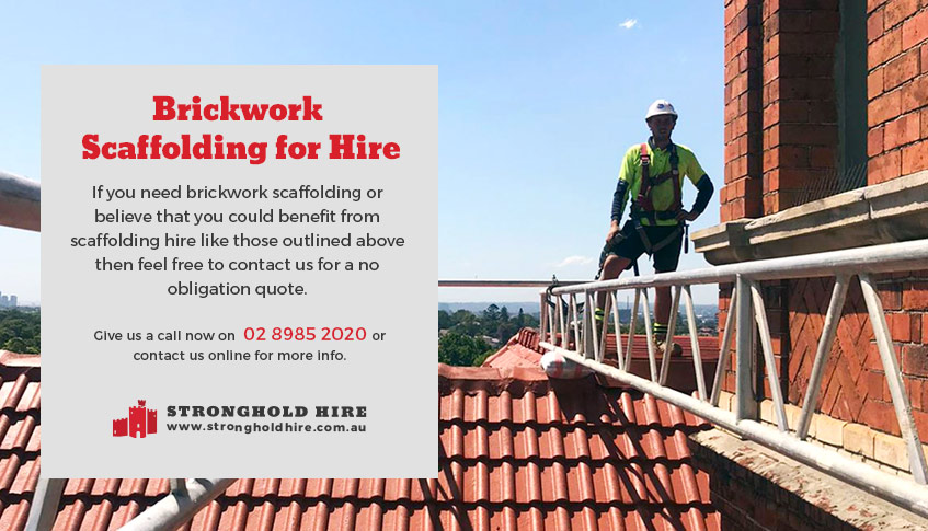 Brickwork Scaffolding for Hire Sydney - Stronghold