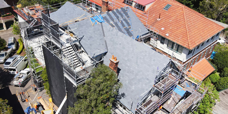 Scaffolding for Roof Replacement Carabella Street Kirribilli