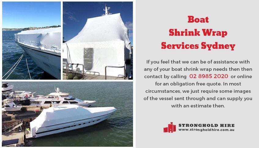 Boat Shrink Wrap Services Sydney - Stronghold