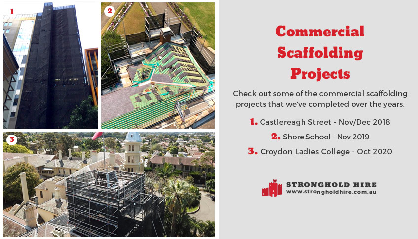 Commercial Scaffolding Projects by Stronghold Hire Sydney