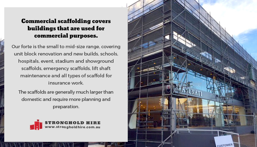 What is commercial scaffolding