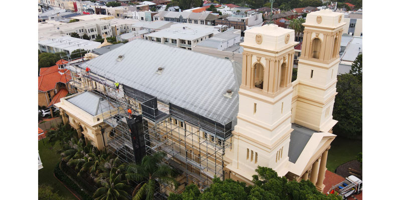 Scaffolding Hire Church Buildings - Stronghold Sydney