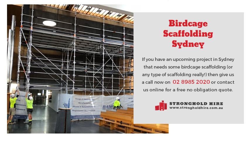Birdcage Rental Scaffolding - Stronghold Sydney