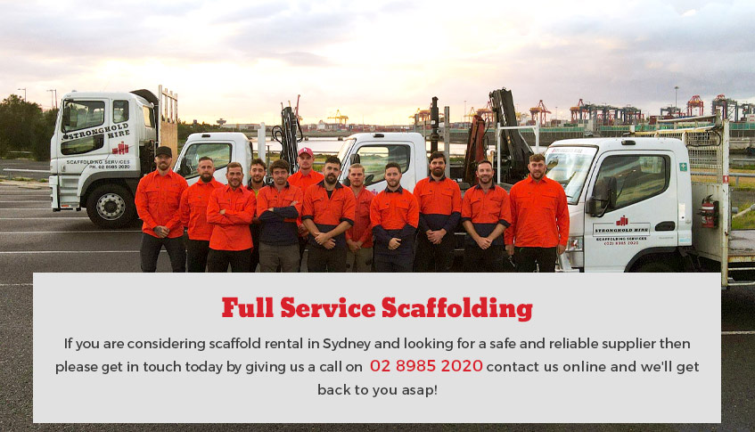 Full Service Scaffolding Stronghold Hire Sydney