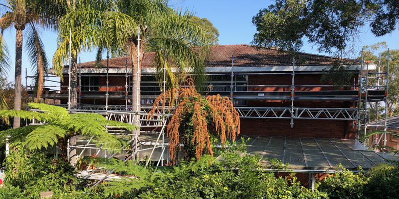 Killarney Heights Glass Atrium Scaffold - Stronghold Hire